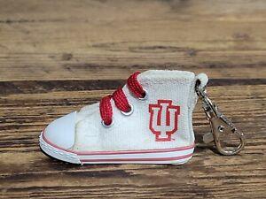 Vintage Indiana University IU Basketball Keychain Chuck Taylor Hightop Shoe NCAA