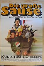 DIE GROßE SAUSE - FILMPLAKAT A1 - LOUIS DE FUNES - BOURVIL -  AF598