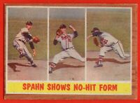 1962 Topps #312 Warren Spahn EX-EX+ MARKED Milwaukee Braves HOF FREE SHIPPING