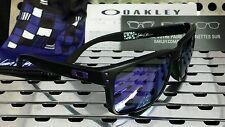 New Oakley 9102-26 HOLBROOK Sunglasses Julian Wilson, Black w / Violet Iridium
