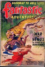 Near Fine! E.R. Burroughs WAR on VENUS! 1942 FANTASTIC ADVENTURES! 20c Pulp Mag!