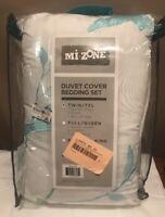 3 Piece Twin XL Size White Solid Duvet Cover Set Bedding Sham Pillow Kids Linen