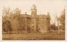Osage City Kansas~High School~Clock Tower~Where I Spend Lots of Time~1908 RPPC