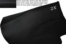 BLACK LEATHER 2X REAR DOOR CARDS LEATHER SKIN COVERS FITS NISSAN 300ZX Z32 90-96