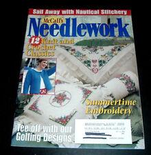 McCALL'S NEEDLEWORK MAGAZINE ~ AUG. 1997~ KNIT CROCHET ~ GOLF ~ FISHING DESIGNS