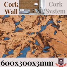 More details for cork decorative wall panels,100% natural 600 x 300 x 3mm choose quantity