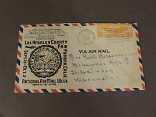 LOS ANGELES COUNTY FAIR 1938 AIR MAIL WEEK MAILED ENVELOPE