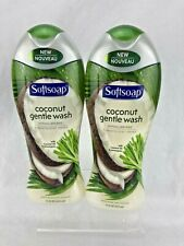 Lot of 2 Softsoap Coconut Gentle Wash Hypoallergenic Body Wash 15 oz Each New