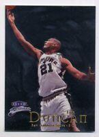 1998-99 Fleer Brilliants TIM DUNCAN BASE BASKETBALL CARD #1 San Antonio Spurs
