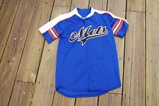 New York Mets Youth Medium Button Up Jersey by Stitches