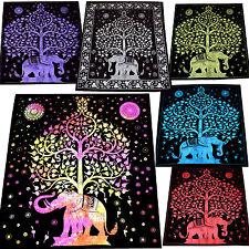 Tages-decke Wandbehang Chandra Deko-Tuch Bettüberwurf Lebensbaum Hippie Goa Yoga