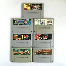 Lot 7 SNES Parodius Megaman Donkey Bomberman Ranma SFC SuperFamicom Japan Tested