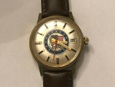 VINTAGE RARE MASONIC MOOSE AUTOMATIC S/S BACK MEN'S WATCH DATE