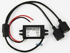 12V to 5V 3A FILO RIGIDO CAVO ADATTATORE DOPPIO USB PER AUTO DASH CAM