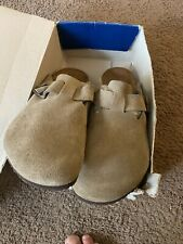 New Birkenstock Boston Suede taupe Leather Sandals Men's 50 (17 US)