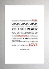 Lana Del Rey - Love - Colour Print Poster Art