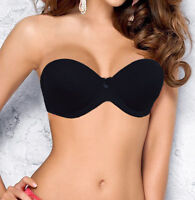 Ladies Strapless Multiway Bra with Clear Straps Black, White or Natural