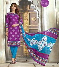 Printed Pure Cotton Salwar Kameez Multi Color Unstiched Casual Wear Material