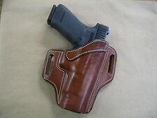 Glock 20, 21 OWB Leather 2 Slot Molded Pancake Belt Holster CCW TAN RH