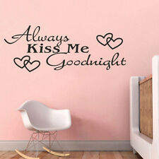 Removable Black Always Kiss Me Goodnight Home Decor Wall Viny Art Sticker Decal