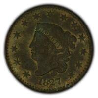 1827 1c Coronet Head Large Cent - Better Date - High-Grade Details - SKU-Y2377