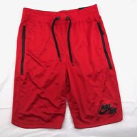 Nike Air Double Mesh Basketball Shorts Red Black 834137-657 Men's Small S