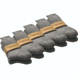 6 Paar Herren Norweger Socken | Wollsocken | Wintersocken | weiche Plüschsohle
