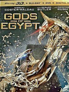 Gods of Egypt (Blu-ray/DVD, 2016, 3-Disc Set, Blu-ray 3D) - Original Seal