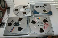 "AMPEX 456 1/4""  tape on 10.5"" metal reels"