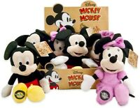 DISNEY PLUSH MICKEY & MINNIE MOUSE 90TH ANNIVERSARY 22CM - CHOICE OF 2 MOUSE