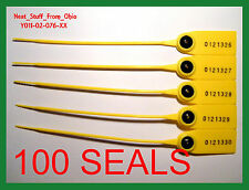 SECURITY SEALS, PULL-TIGHT,  HIGH-SECURITY, RAT-TAIL, 100 SEALS