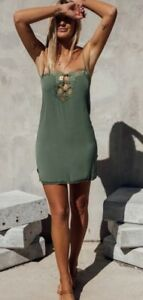 Spell & The Gypsy Collective - Love Lace Green Slip Dress - NWT