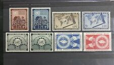 TIMBRES NATIONS UNIES NEW YORK : 1953 YVERT TELLIER N° 15 à 22** ANNEE COMPLETE