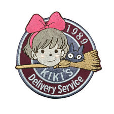1989 Kiki's Delivery Service Patch Embroidered Anime Sew Iron on Applique Badge