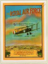 RAF AVRO 504/504K WWI Biplane Fighter/Bomber Aircraft Stamp Sheet (1993 Gambia)