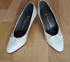 Schuhe Pumps weiß Leder Gr.37 37,5 (25) Hochzeit High Heels Bella Design