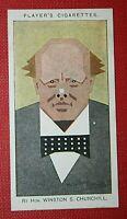 WINSTON CHURCHILL      Original 1920's Vintage Colour Card