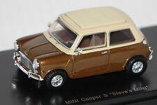 """Mini Cooper S """"Steve`s MINI"""" brsaun-beige 1:43 Schuco PRO.R43 neu &  OVP 8985"""