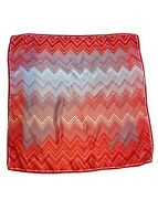 Missoni Red Print Silk Scarf Nwt