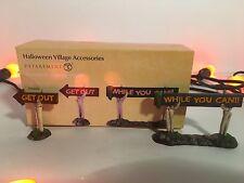 New Dept. 56 Boneyard Spooky Signs 4054263 Halloween Accessories Village Piece