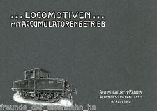 Accumulatoren-Fabrik AG (AFA): Lokomotiven mit Accumulatorenbetrieb