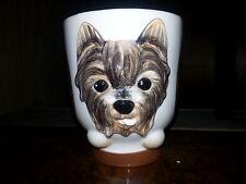 YORKIE Dog Porcelain Coffee Mug Cup Ceramic Figurine Quality By DNC Arcadia NIB