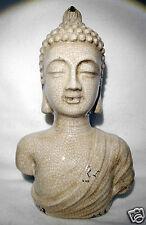 Thai Buddha Head/Shoulder Ornament Statue 27cm (11') High - Cream.