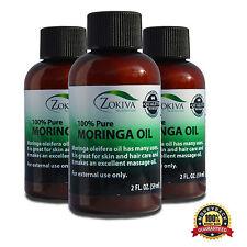 Moringa Oil 3-Pack 100% Pure Cold Pressed  All-Natural, Anti-Aging, 6 fl. oz.