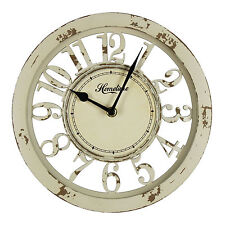 Shabby Chic Distressed Wooden Wall Cream Clock , Arabic Dial