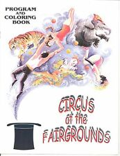 """Circus Royale 1987 - """"Circus at the Fairgrounds"""" Program and Coloring Book"""