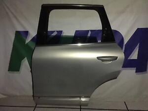 11-17 VW Touareg Complete Silver Rear Left Driver Door With Window+ Handle+ More