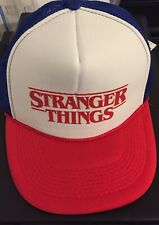 Halloween Horror Nights Stranger things White Red Blue Hat