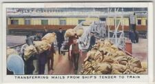 Transfer Of Postal Mail From Ship To Train 1930s Trade Ad Card