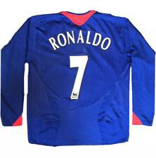 Manchester United 2005-06 Long Sleeves Away Shirt RONALDO #7 Size XL Real Madrid